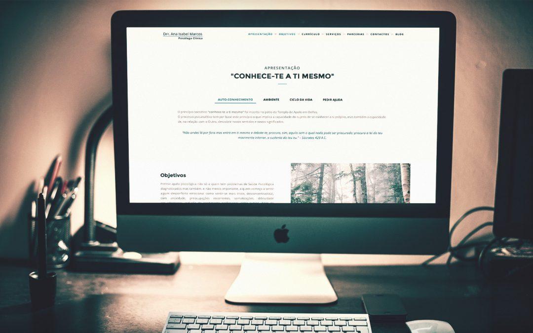 Ana Isabel Marcos – criação de website responsive
