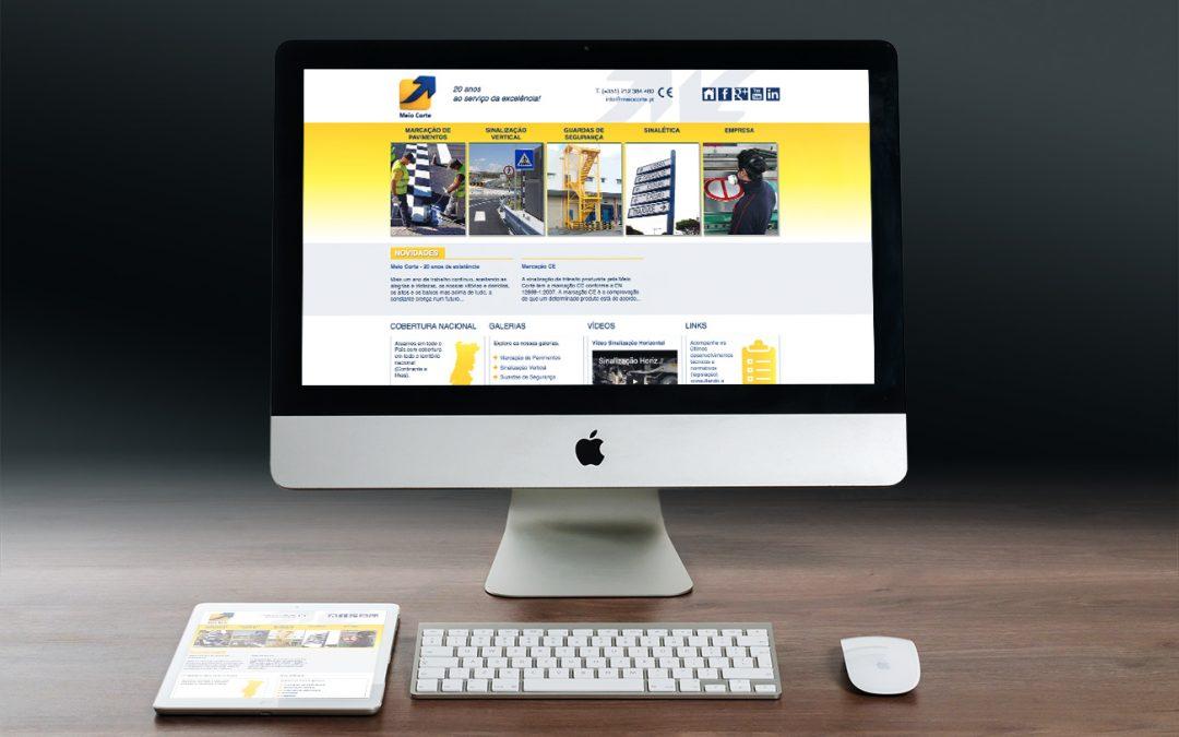 Meio Corte – Desenvolvimento de site