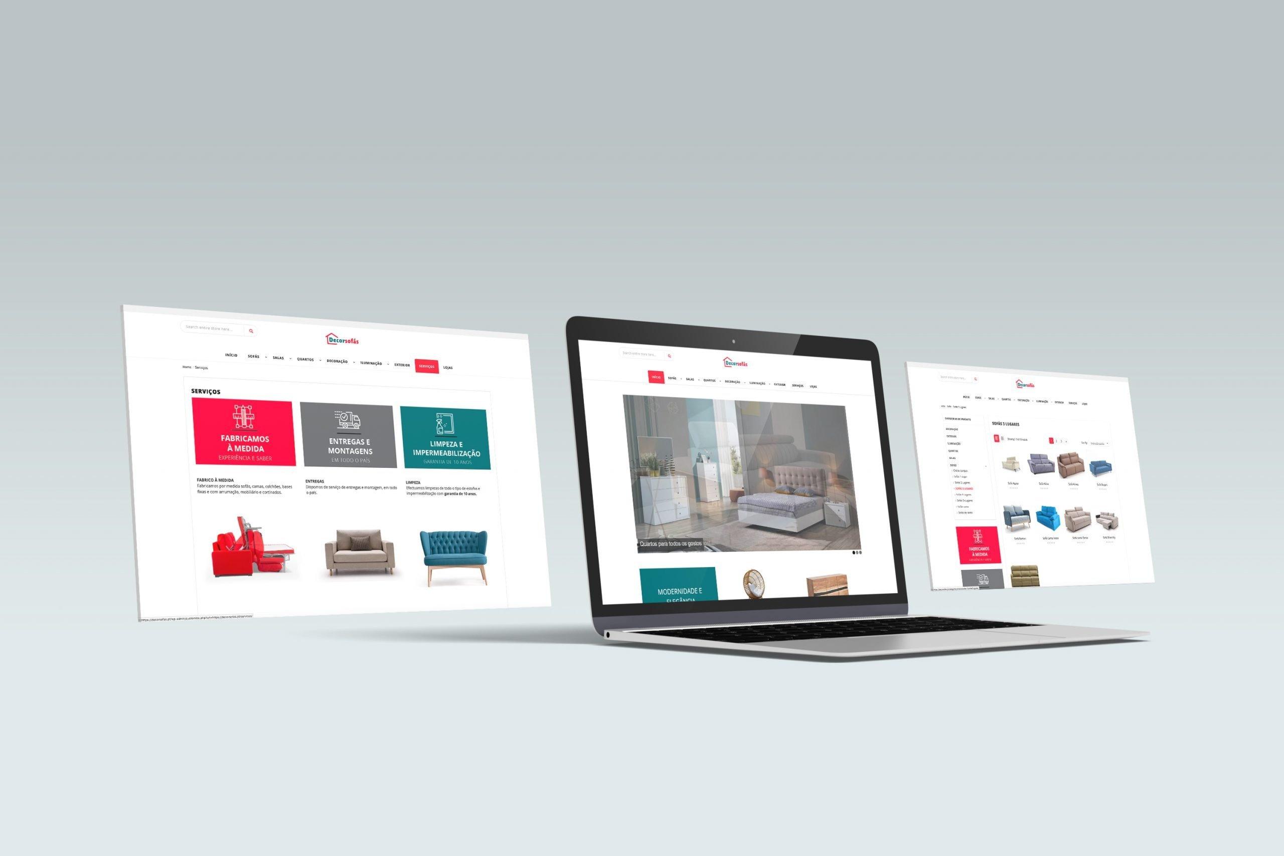 Criação de Website DecorSofás em WordPress